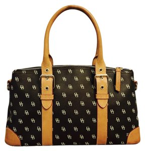 Dooney & Bourke & Satchel in Black and Brown/Multi