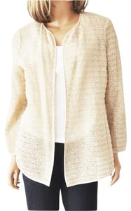 Eileen Fisher Wrapped Zigzag Open Cardigan Sweater
