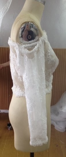 White Lace Sexy Sheer Off Shoulder Top Separates Sheer