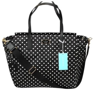 Kate Spade New York Blake Avenue Wkru3524 Taden Diamond Dot BLACK (WHITE DOTS) Diaper Bag