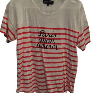 Madewell T Shirt white and red