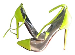 Christian Louboutin Cl Unbout Pvc Soldout Yellow Pumps
