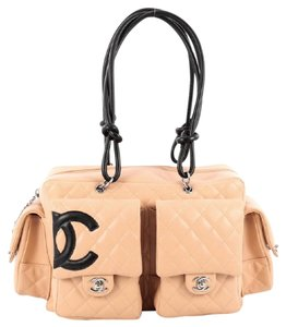Chanel Leather Satchel in Beige