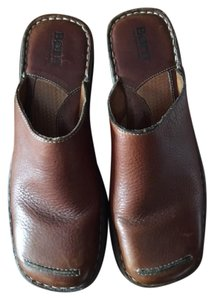 Børn Leather Hand Crafted Brown Mules
