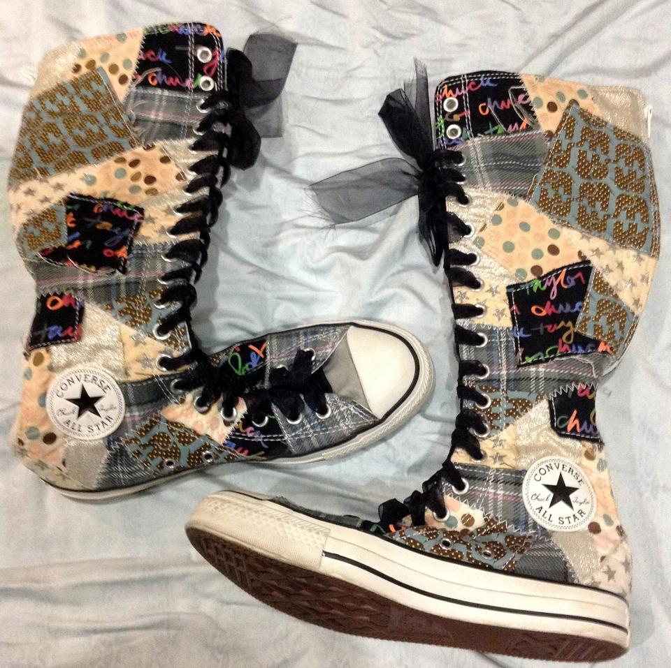 12f114f7f93 Converse Multicolor Knee High Lace Up Sneakers Size US 8 Regular (M ...