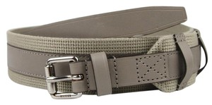 Gucci Leather/Fabric Belt with Square Buckle 100/40 Beige 341744 1523