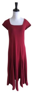 Burgundy Maxi Dress by Isabella Bird Red Short Sleeve Cotton Fit And Flare Maxi