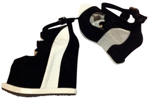 baidaoqi black/white Wedges