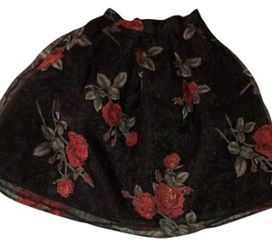 Forever 21 Skirt black and red