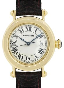 Cartier Cartier 1420 Diabolo 18k Gold on Brown Leather Watch