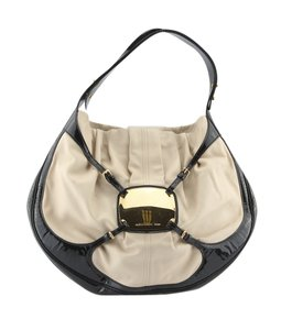 Alexander McQueen Tan & Black Shoulder Bag