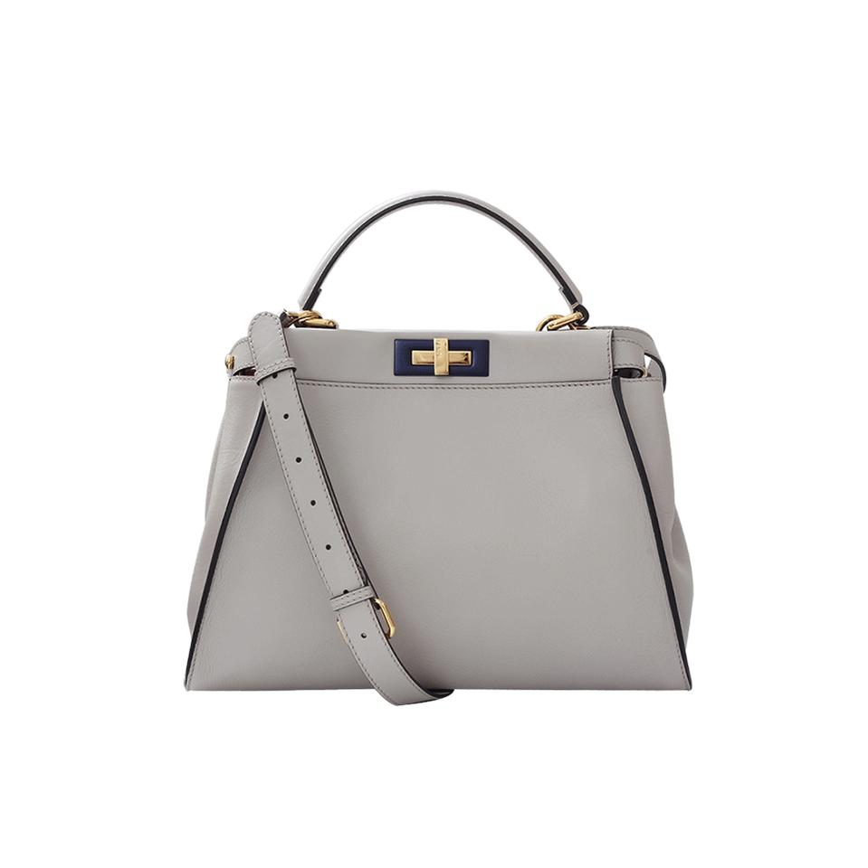 58489f3340 Fendi Peekaboo Medium Leather Tote in Grey Image 0 ...