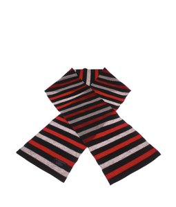 Burberry Burberry Red Multi-Color Striped Wool Scarf (113109)
