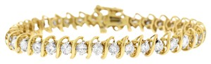Other 5.00 Ct. Natural Diamond Tennis S Design Bracelet In Solid 14k Yellow
