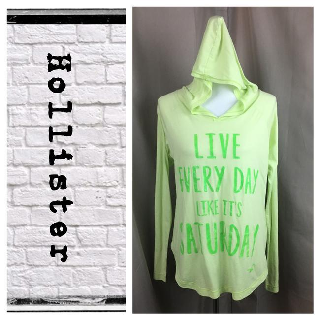 Preload https://img-static.tradesy.com/item/20641065/hollister-electric-green-long-sleeve-graphic-hooded-tee-shirt-size-6-s-0-1-650-650.jpg