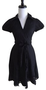 BCBGMAXAZRIA short dress Black Lace Bcbg Cotton Cap Sleeve on Tradesy
