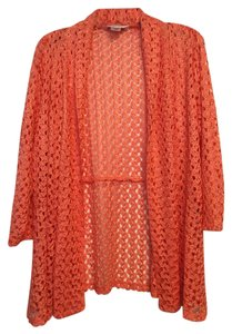 Allison Daley Coral Open Front Cardigan