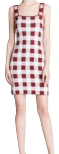Theory short dress Red and White Knitted Vintage Bloomingdales on Tradesy