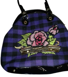 Betsey Johnson Satchel in purple/black