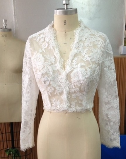 White Lace Sexy 3/4 Sleeve Sheer Top Never Worn)