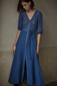 blue Maxi Dress by Maje Parisian Chic Roxette Maxi Spring/summer