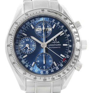 Omega Omega Speedmaster Day-Date Blue Dial Chronograph Mens Watch 3523.80.00