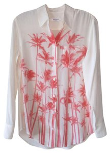 Equipment Button Down Shirt white and pink
