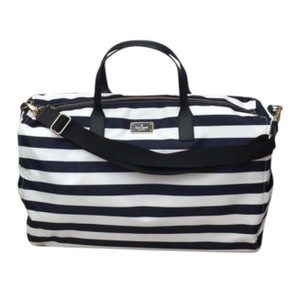 Kate Spade Offshore ( Navy) / White stripe Travel Bag