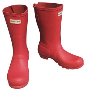 Hunter Rain Waterproof Handcrafted Military Red Boots