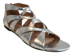 Alejandro Ingelmo Leather Flats silver Sandals