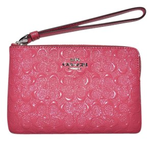 Coach Date Night Valentine's Day Gift Night Out Wristlet in Strawberry Pink