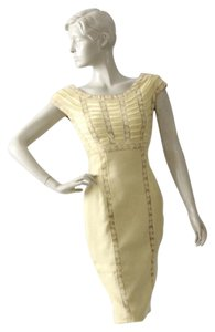 Pat Sandler Lace Vintage Linen Wiggle Dress