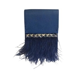 Halston Blue Clutch