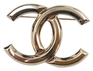 Chanel Chanel Brand New Classic Gold Solid Brooch/ Pin