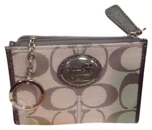 Coach NEW COACH MINI CREDIT CARD/ KEY RING WALLET #43967