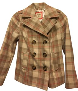 Old Navy Plaid Pea Coat