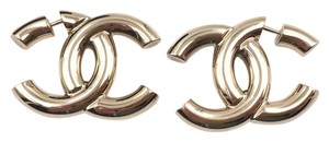 Chanel Chanel Brand New Classic Gold Color Solid Large Piercing Earrings