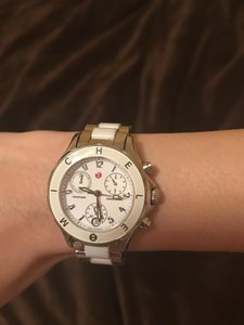 Michele Michele Watch two tone silver and white watch