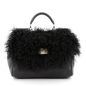Dolce&Gabbana Dolce & Gabbana Shearling Leather Shoulder Bag