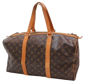 Louis Vuitton Sac Souple Keepall Leather Monogram Luxury brown Travel Bag