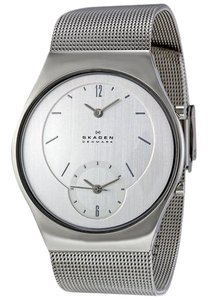 Skagen Denmark 733XLSS Men's Silver Metal Bracelet With Silver Analog Dial Watch