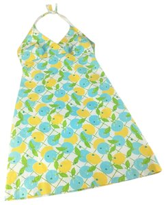 Lilly Pulitzer short dress blue and yellow Lilly Halter Vacation Summer on Tradesy