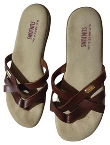 Bass Sunjuns Leather Brown Sandals