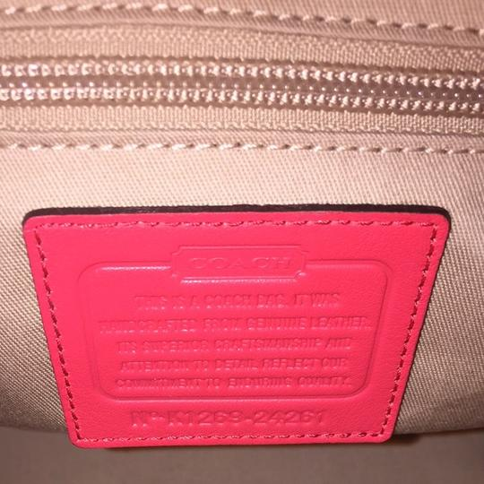 Coach Tote in Bright Coral