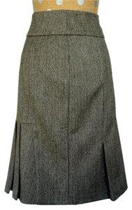 Tibi Trumpet Wool Skirt Brown