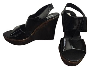 Charles David Patent Leather Black Sandals