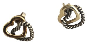 David Yurman heart gold silver