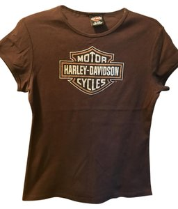 Harley Davidson T Shirt chocolate brown