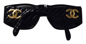 Chanel CC Quilted Black Sunglasses