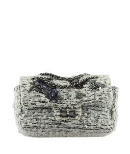 Chanel Tweed Metal Cc Shoulder Bag